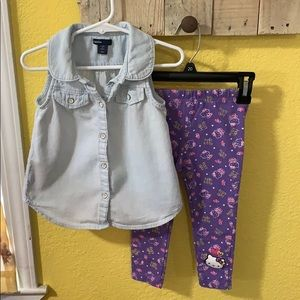 Baby Gap and Hello Kitty Outfit